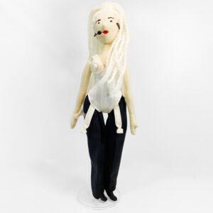 Bambola di stoffa realizzata a mano Madonna