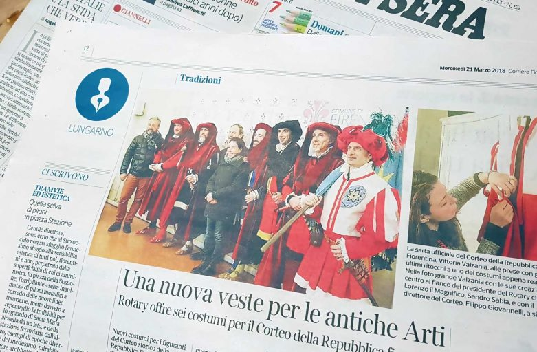 Corteo storico della Repubblica Fiorentina: Vittoria Valzania su Il Corriere