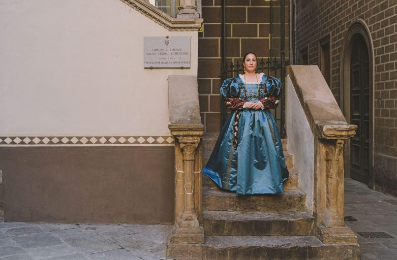 Donato al Corteo Storico della Repubblica Fiorentina l'abito de 'La Bella di Tiziano'